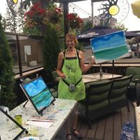 Paint Night on Patio